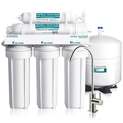 bfa2aeb6a29 APEC Top Tier 5-Stage Ultra Safe Reverse Osmosis Drinking Water Filter  System (ESSENCE ROES-50) - - Amazon.com