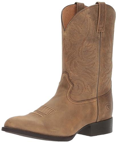 Men's Ariat Sport Sidebet Cowboy Boot, Size: 9.5 D, Native Nutmeg Full Grain Leather