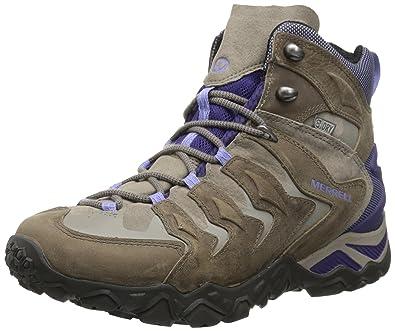 71ed80cc506 Merrell Women's Chameleon Shift Mid Waterproof Hiking Boot, Stucco/Purple,  ...