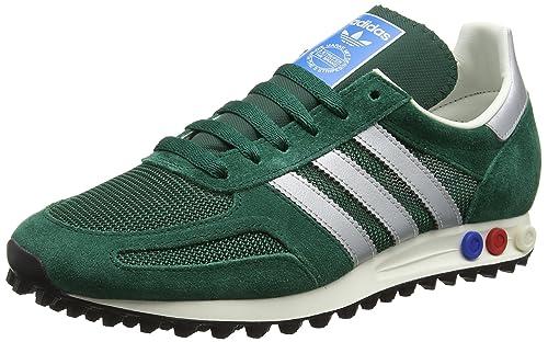 Adidas Trainer Scarpe da Ginnastica, Basse, Uomo, Verde (Collegiate Green/matte
