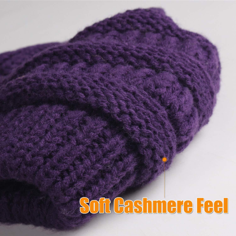 FURTALK Knit Beanie Hats for Women Men Fleece Lined Ski Skull Cap Slouchy Winter Hat for Canada