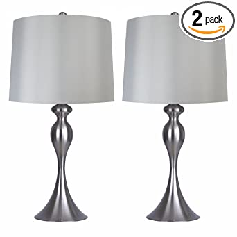 Grandview Gallery Table Lamps With Light Grey Lamp Shade Set Of 2
