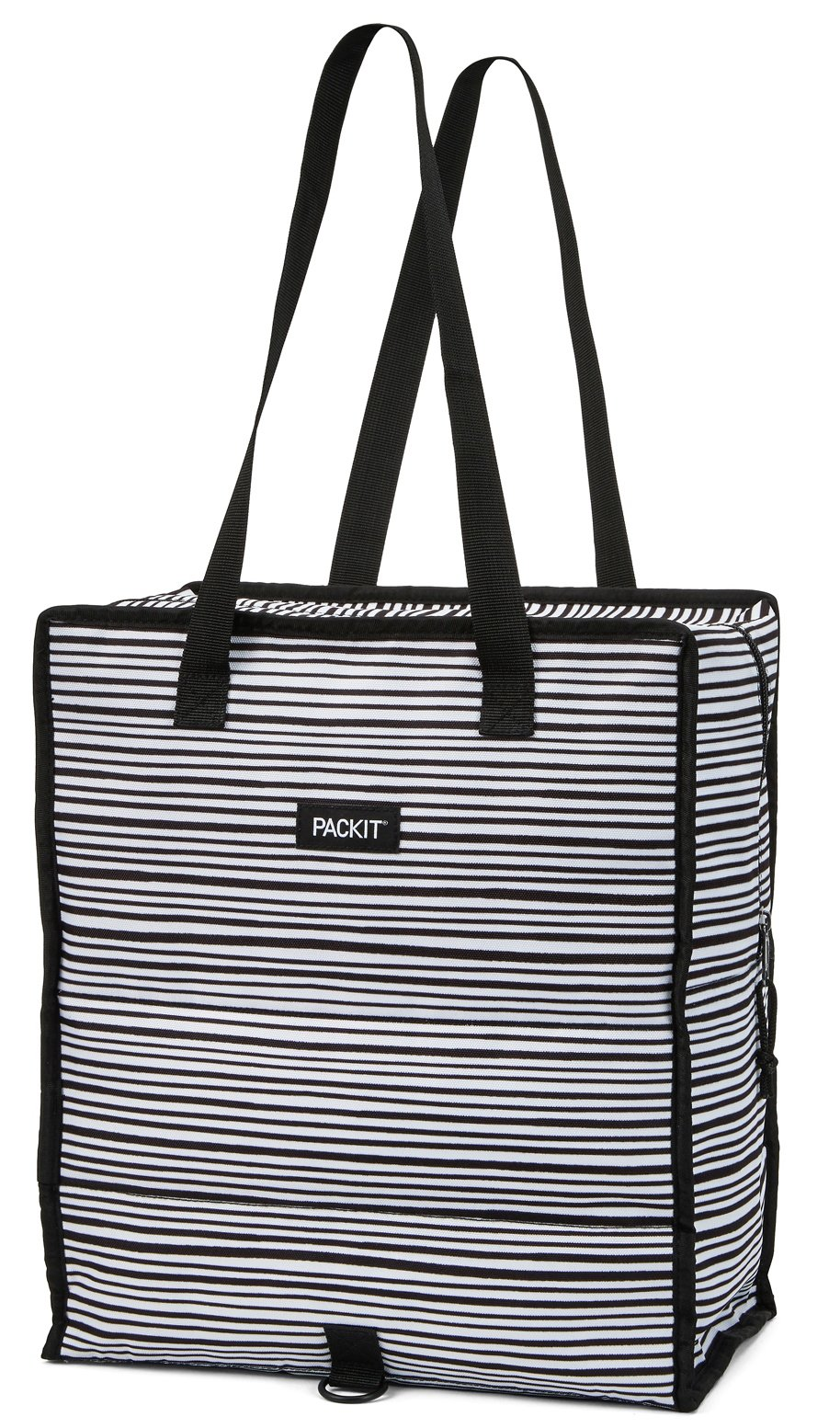 PackIt Freezable Grocery Shopping Bag with Zip Closure, Wobbly Stripes by PackIt (Image #1)