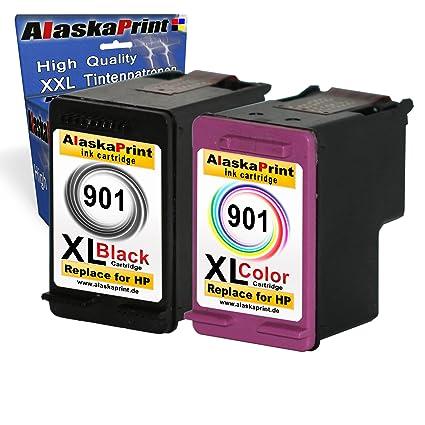2 pieza Cartuchos de impresora HP 1 x 901bk XL Black + 1 x ...