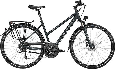 Bergamont – Bicicleta de trekking Sponsor Disc Mujer Negro/Gris ...
