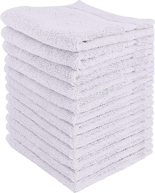 Utopia Towels - 12 Toallitas de algodón (30 x 30 cm, Blanco ...