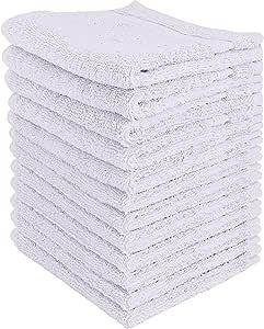 Utopia Towels - 12 Toallitas de algodón de Lujo (30 x 30 cm, Blanco)