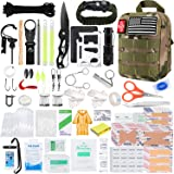 KOSIN Survival Gear and Equipment, 500 Pcs Survival First Aid kit, Fishing Gifts for Men Dad Boy Fathers Day, Trauma Bag Comp
