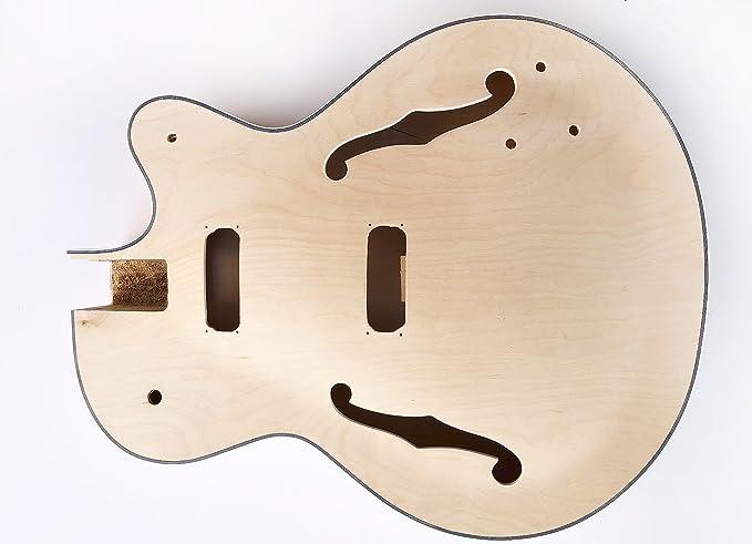 DIY Kit de guitarra eléctrica Bass - Bajos cuerpo hueco construir tu propio kit de graves: Amazon.es: Instrumentos musicales