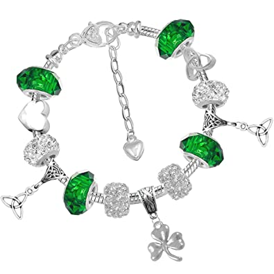 bc17a31da Amazon.com: St Patricks Day Celtic Heart Lucky Triquetra Shamrock ...