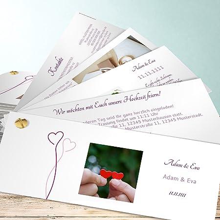 Hochzeitseinladungen Drucken Lassen Zwei Im Gluck 200 Karten