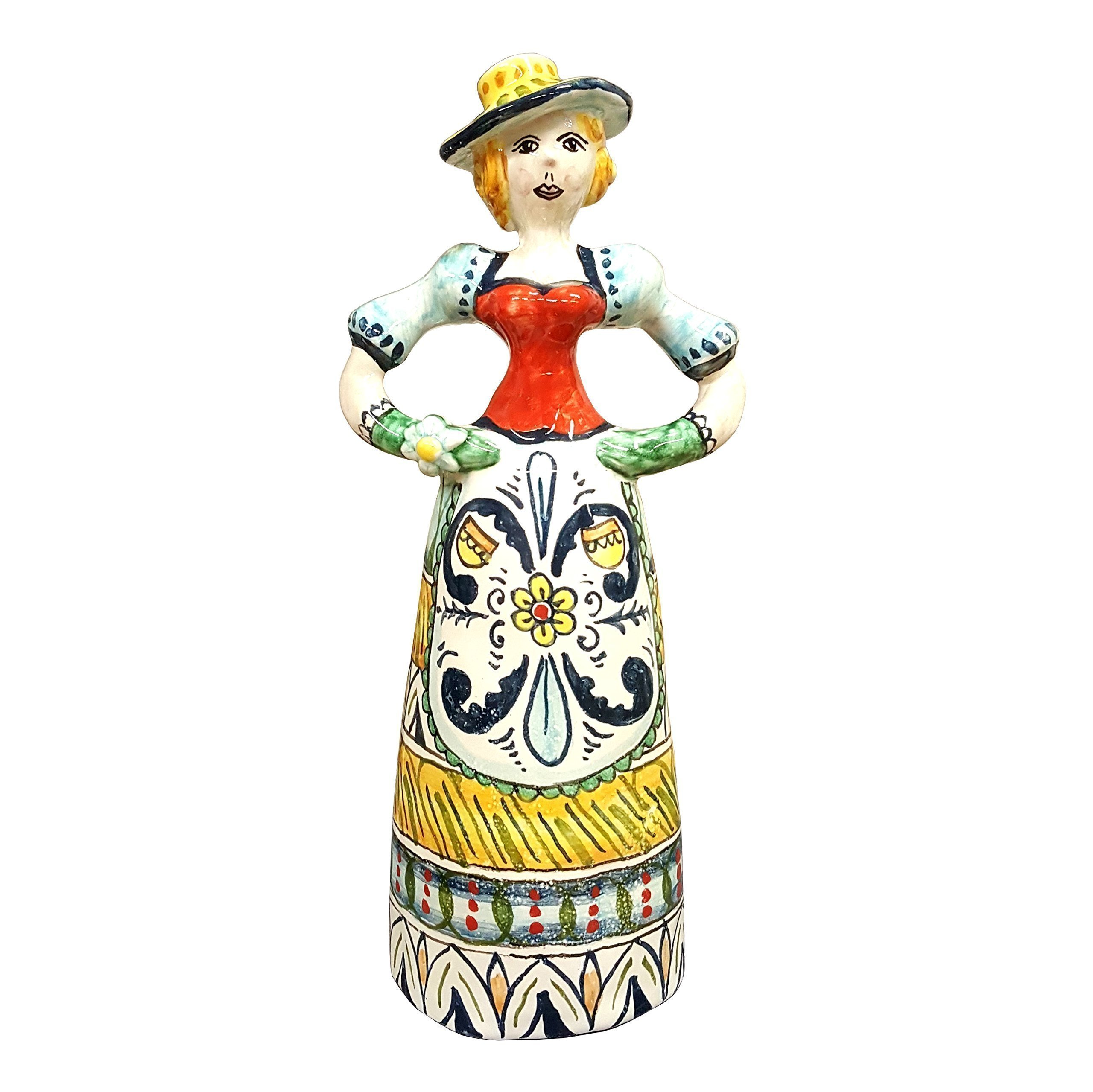 CERAMICHE D'ARTE PARRINI- Italian Ceramic Doll Small Decorated Geometric Hand Painted Made in ITALY Tuscan Art Pottery by CERAMICHE D'ARTE PARRINI since 1979