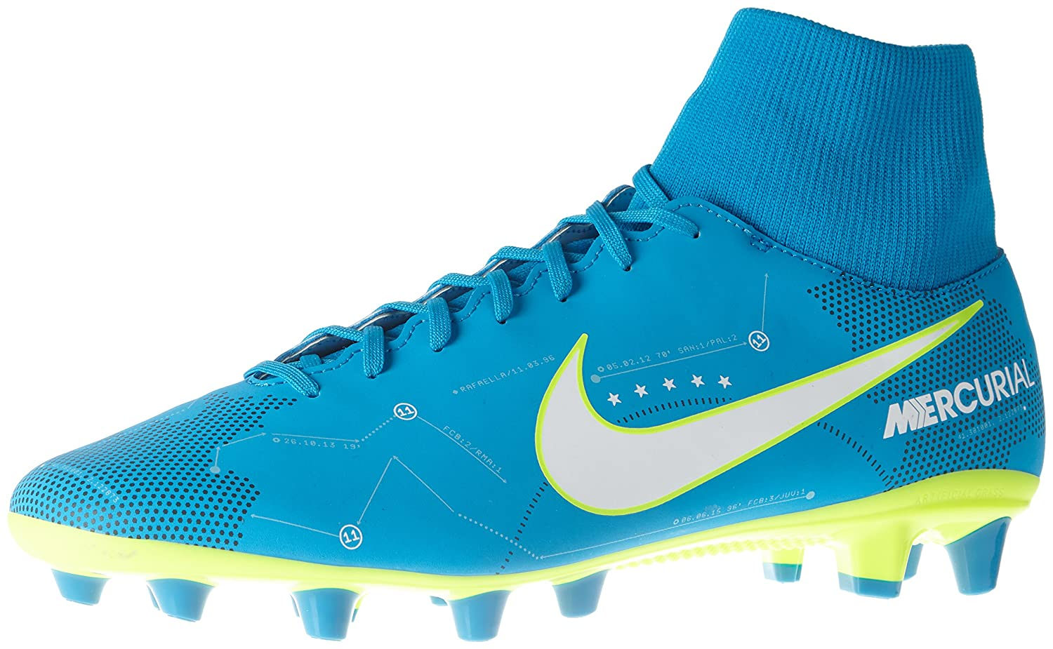 Nike Mercurial Vctry 6 DF NJR Agpro, Zapatillas de Fútbol Para Hombre 46 EU|Turquesa (Blue Orbit/White/Blue Orbit/Armory Navy/Volt/Volt)