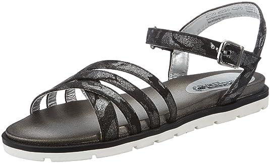 Womens 40CA615-680155 Gladiator Sandals, Black (Schwarz/Silber 155), 7.5 UK Dockers by Gerli