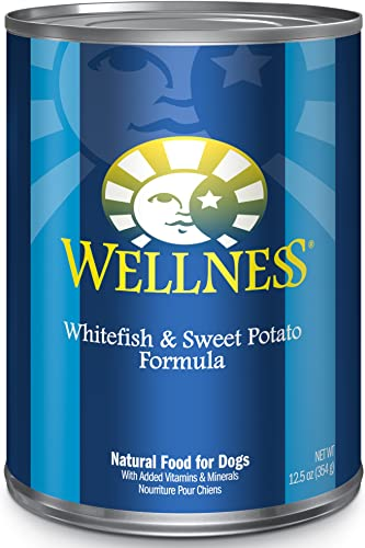 Wellness Complete Health Natural Wet Canned Dog Food Whitefish Sweet Potato