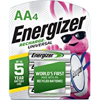 Energizer Rechargeable AA Batteries NiMH 2000mAh 4 Ct