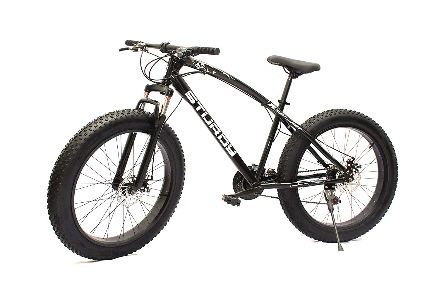 STURDY BIKES Fat Mountain Bike With 26X4 Inch Tires (Black)