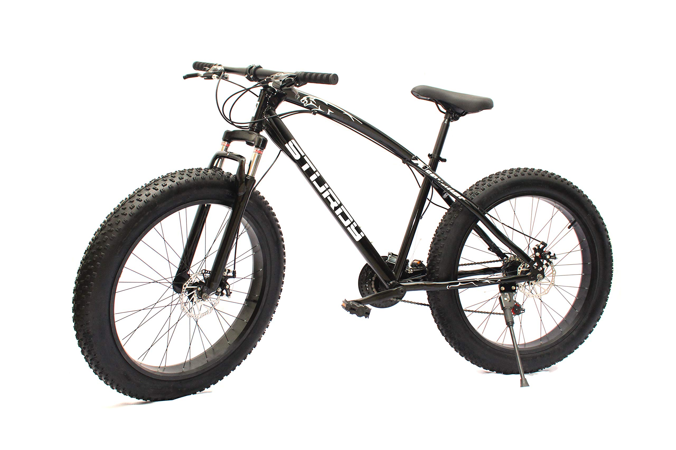 STURDY BIKES Fat Mountain Bike with 26x4 Inch Tires (Black) product image