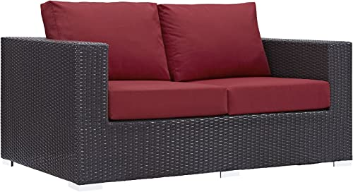 Modway Convene Wicker Rattan Outdoor Patio Loveseat