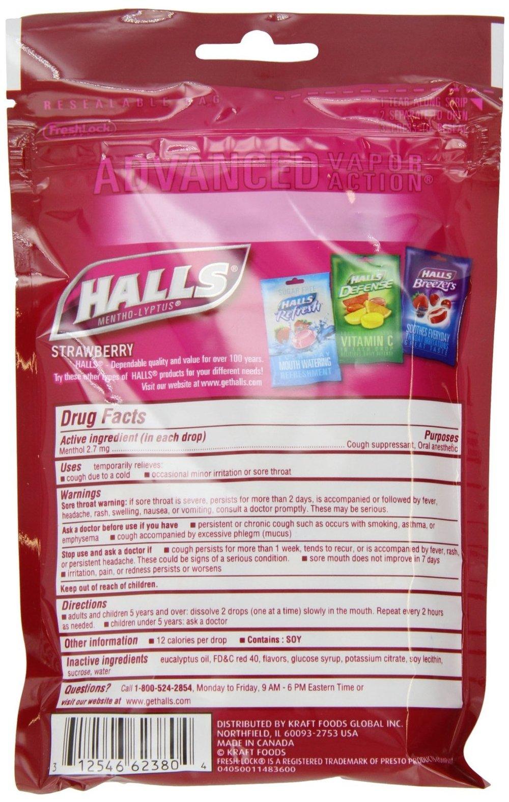 Halls Strawberry Cough Drops