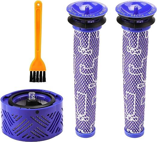 KEESIN Filtro de Repuesto para postmotor V6 y 2 pre filtros V6 V7 V8 para aspiradoras Dyson V8 Animal y Absolute: Amazon.es: Hogar