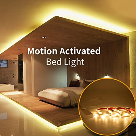 Under stairs lighting Railing Image Unavailable Zebracolombiaco Amazoncom Aokairuisi Motion Activated Bed Light Waterproof