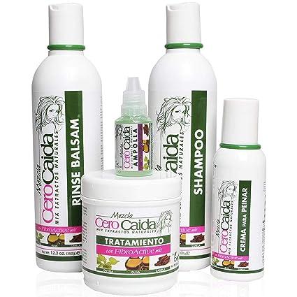 Kit Mezcla Cero Caída, tratamiento para la caída del pelo en mujeres y champú para