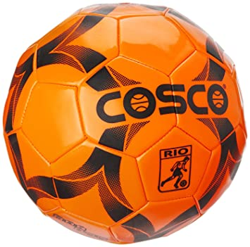 cosco rio football size 3 small sized football orange colour