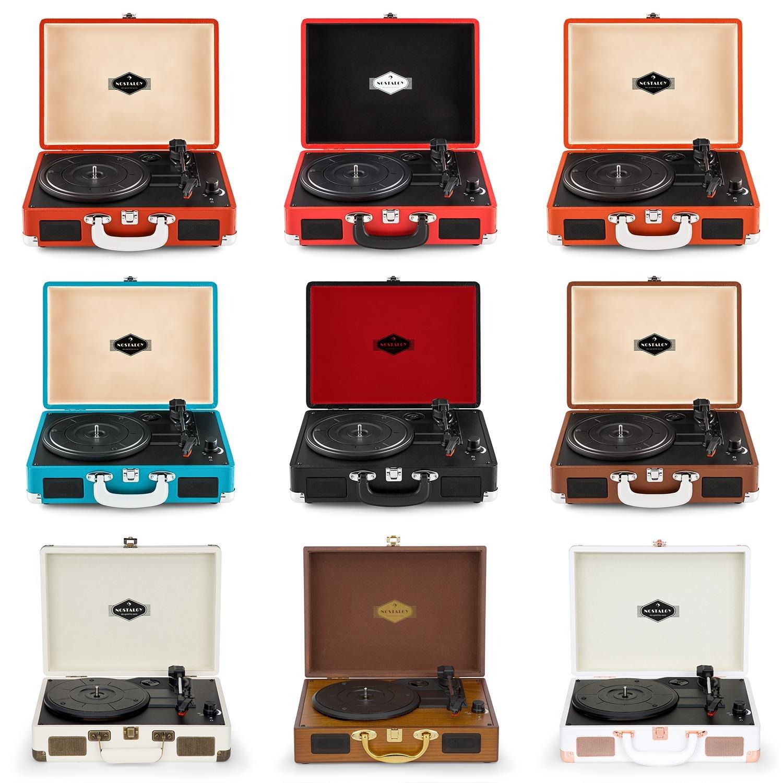 auna Peggy Sue Tocadiscos - Reproduce 3 tamaños de Vinilo , Altavoces Integrados , Equipo estéreo LPs , Puerto USB , Digitalizador MP3 , Salida de ...