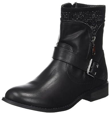 Initiale Damen Trouble Biker Boots, Schwarz (Noir 546), 36 EU