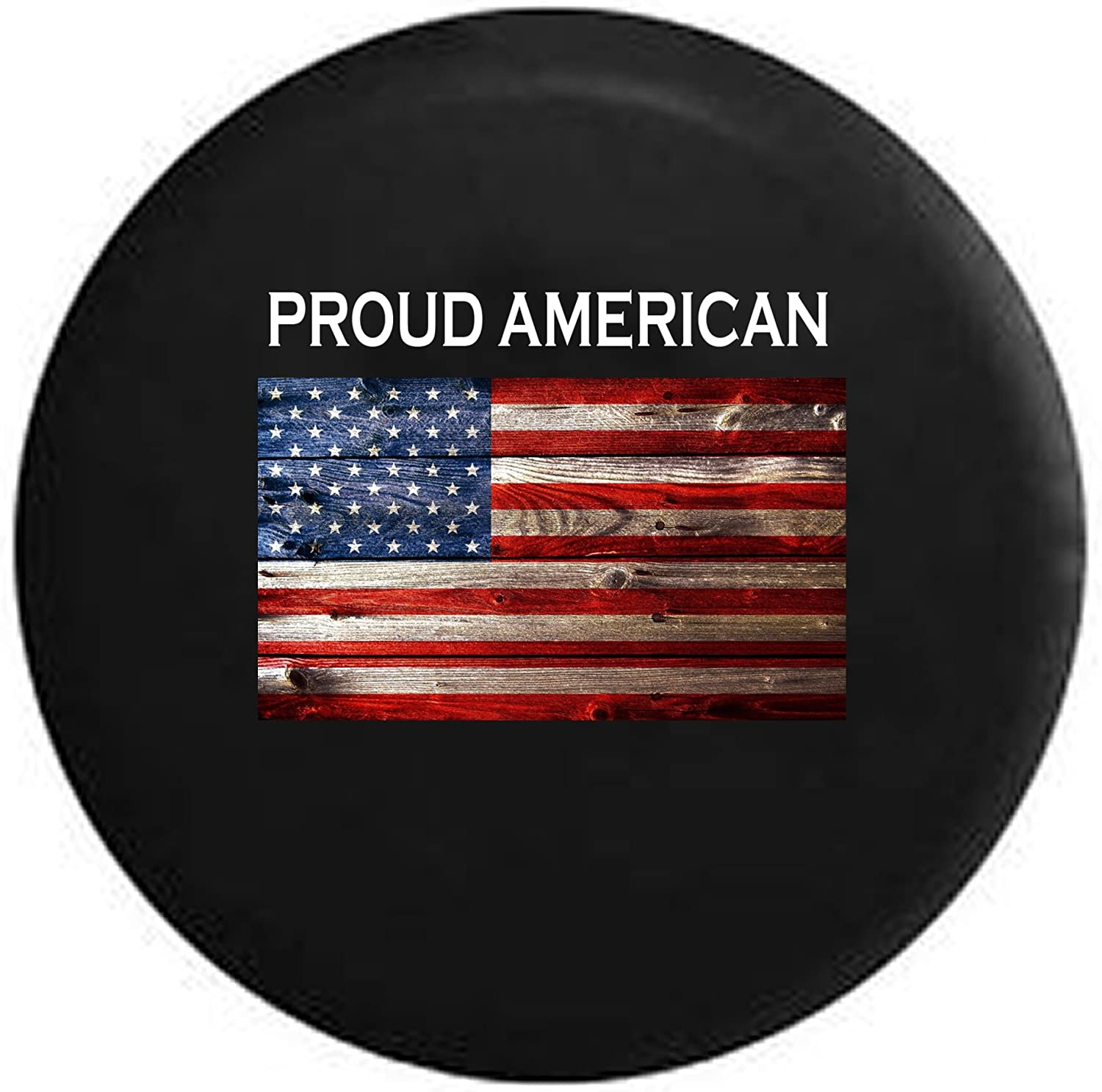 SUV Truck and Many Vehicle Camper Accessories RV CENSIHER Spare Tire Cover God Bless America Eagle Flag Waterproof Dust-Proof Universal Spare Wheel Tire Cover Fit for Jeep,Trailer