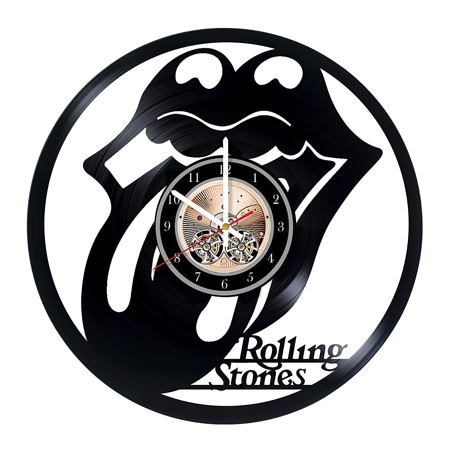 The Rolling Stones HANDMADE Vinyl Record Wall Clock - Get unique bedroom or living room wall decor - Gift ideas for him and her