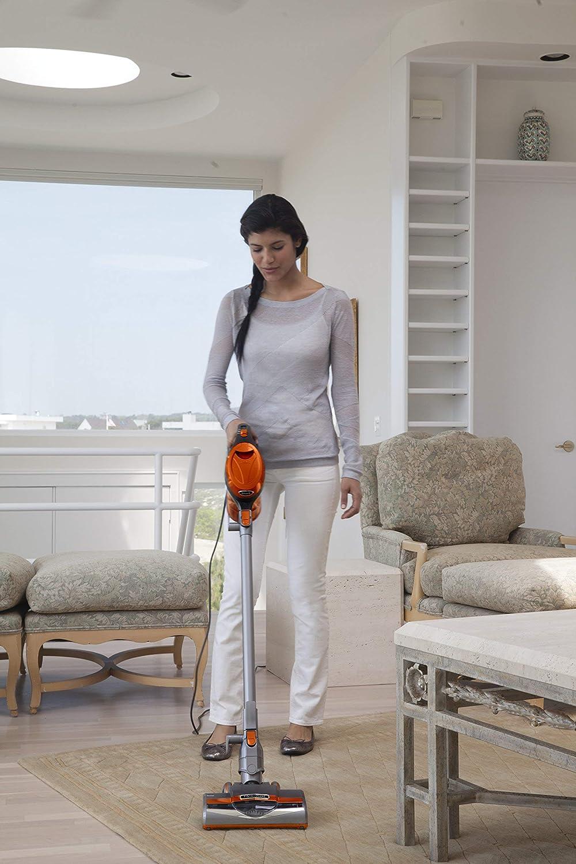 SharkNinja HV301 Rocket Stick Vacuum, Orange and Gray – Renewed