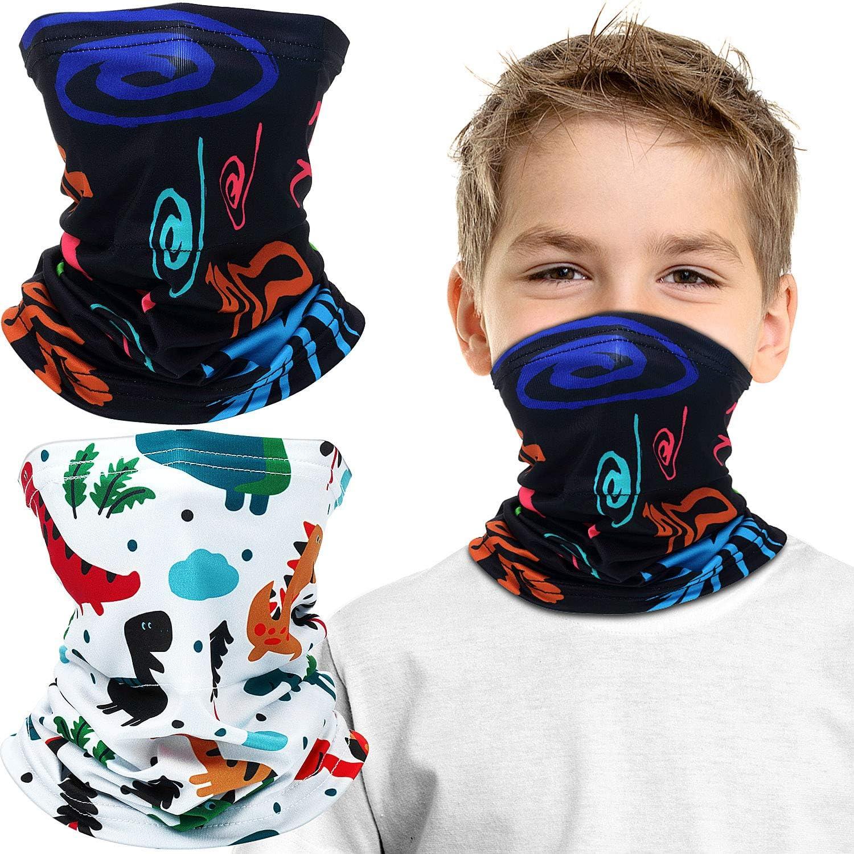 Boys Mask Scarf Bandage Neck Gaiter UV Sun Protection Festive and Outdoor Protection