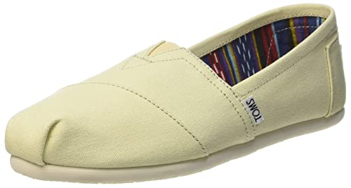 Amazon.com | TOMS Womens Classic Canvas Natural Canvas Ankle-High Canvas Flat Shoe - 5.5M | Flats