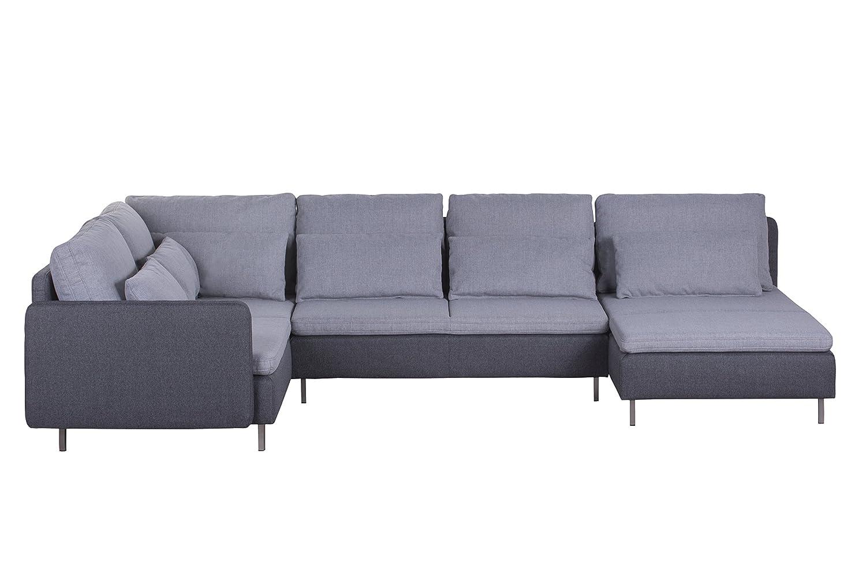 Cavadore Wohnlandschaft Scrubbles U Sofa Im Material Mix 328 X 73