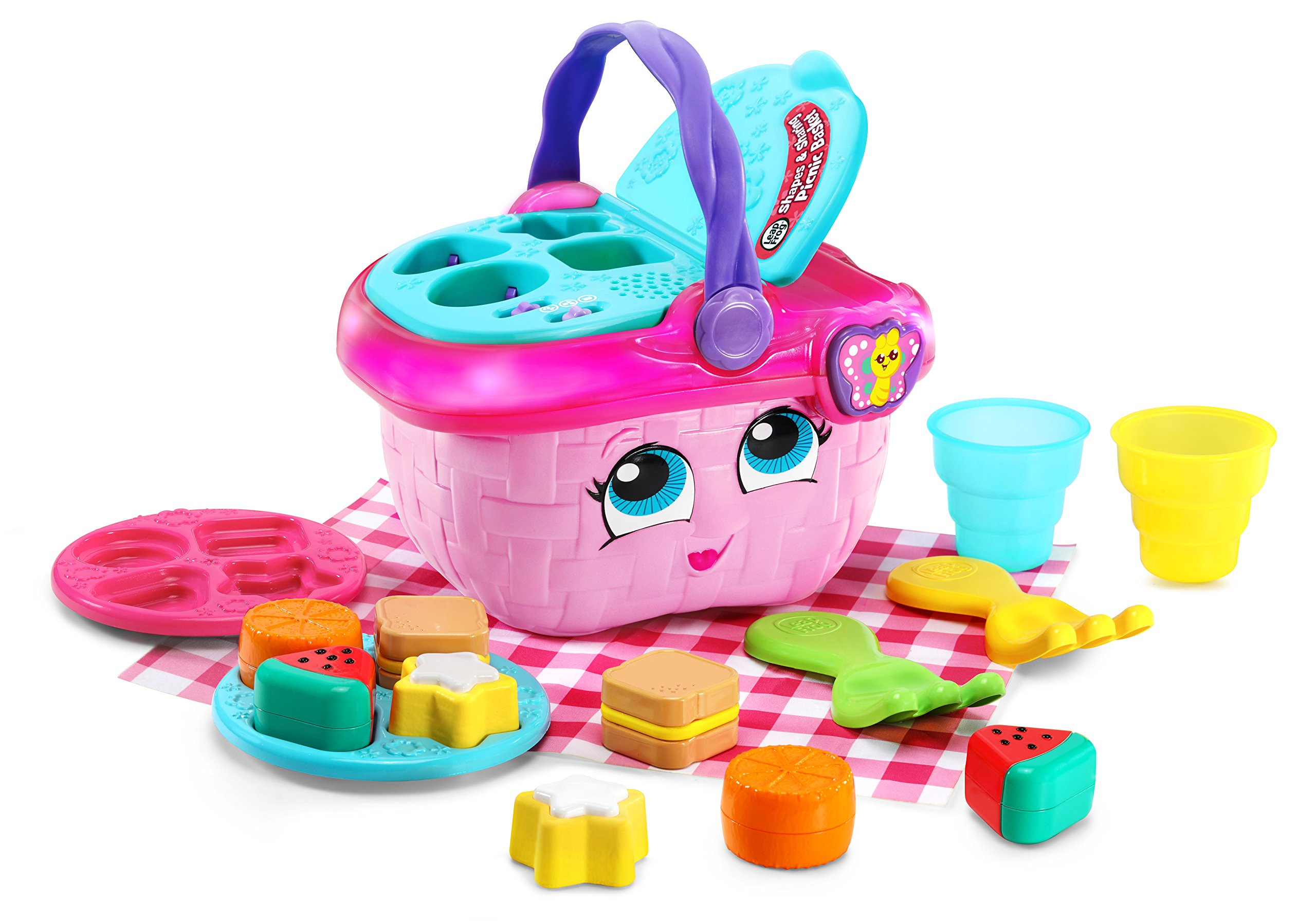 LeapFrog Shapes and Sharing Picnic Basket (Frustration Free Packaging), Pink by LeapFrog