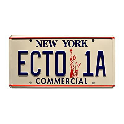 Celebrity Machines Ghostbusters 2 | ECTO-1A | Metal Stamped License Plate: Automotive