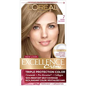 L'Oreal Excellence Triple Protection Permanent Hair Color Creme Dark Blonde [7] 1 ea (Pack of 2)
