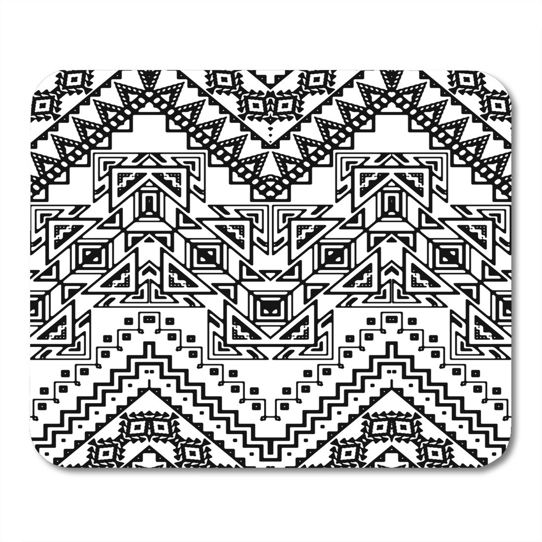 amazon boszina mouse pad africa summer chevron pattern with Aztec Ball Game Court boszina mouse pad africa summer chevron pattern with aztec ethnic and tribal ornaments black and white boho abstract office supplies mouses pad 9 5x7 9