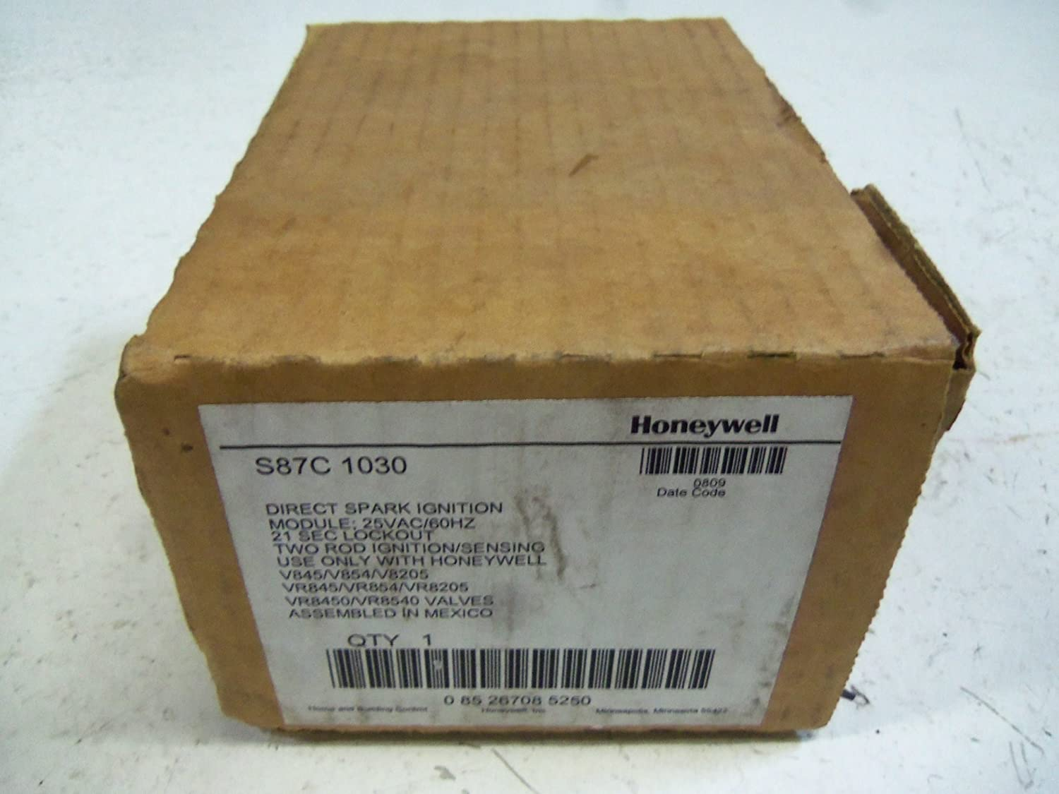 Honeywell, Inc. S87C1030 Direct Spark Ignition Module, 21 sec Trial Time
