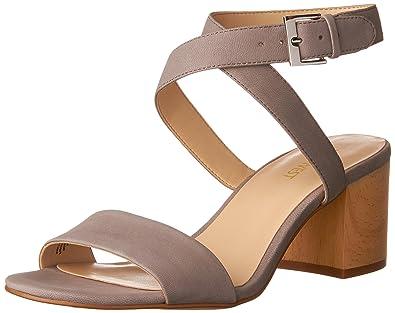 Nine West Women's Gondola Leather Dress Sandal, Grey, ...