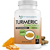 Turmeric Curcumin - 2250mg/d - Veggie Caps - 95% Curcuminoids with Black Pepper Extract (Bioperine) - 750mg Capsules…
