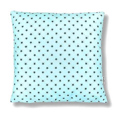 AMI Lian® - Cojín Almohada Cojín 40 cm x 40 cm estrella Mint ...