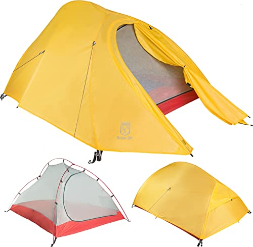 Paria Outdoor Products Bryce Ultralight Tent and Footprint – Perfect for Backpacking, Kayaking, Camping and Bikepacking