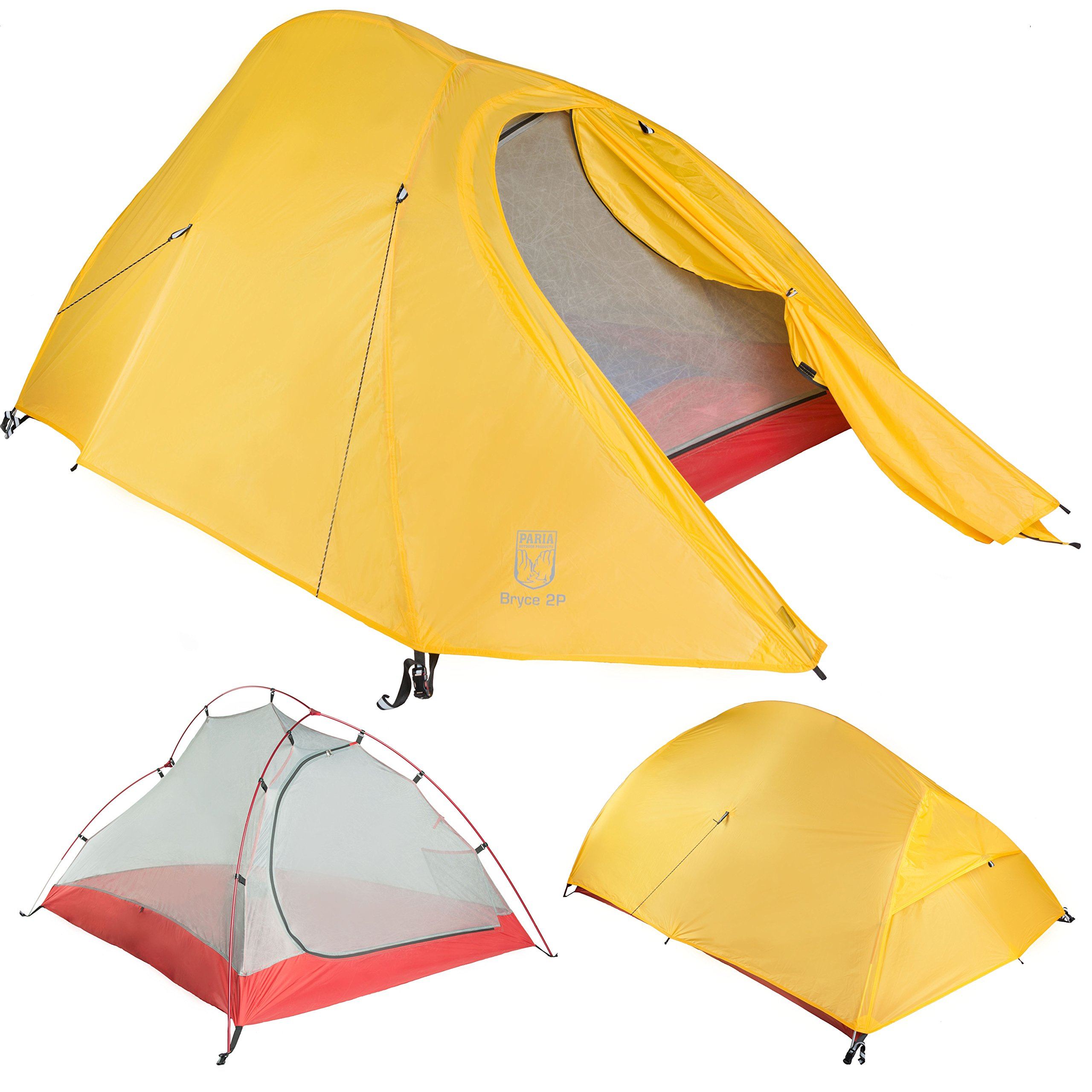Bryce 2P Two Person Ultralight Tent and Footprint - Perfect for Backpacking, Kayaking, Camping and Bikepacking by Paria Outdoor Products (Image #1)