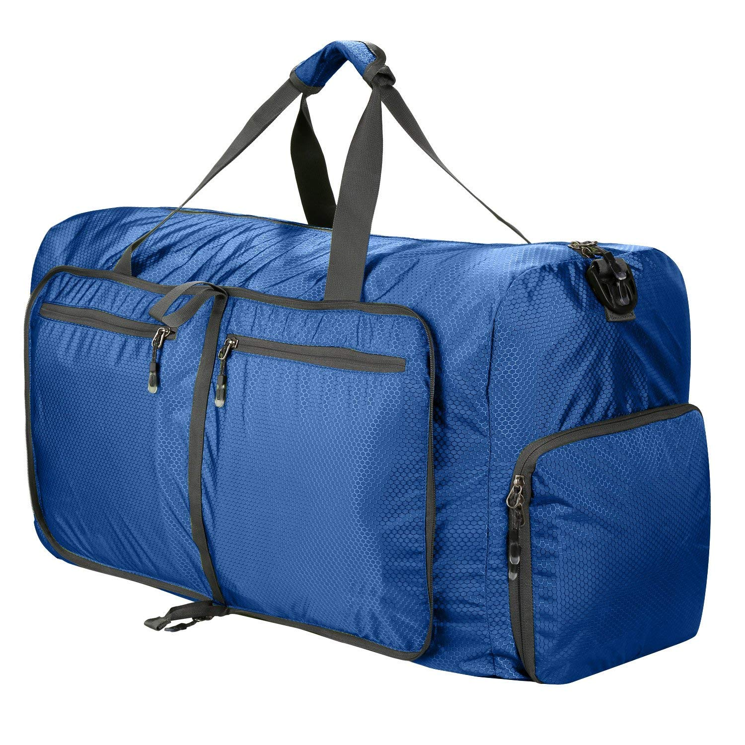 80L Packable Travel Duffle Bag, Large Lightweight Luggage Duffel (Blue)