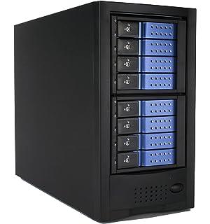 Syba 8 Bay Tool Less Tray Hot Swappable 2.5 and 3.5 SATA Non Raid Hard Drive External USB 3.0 Enclosure