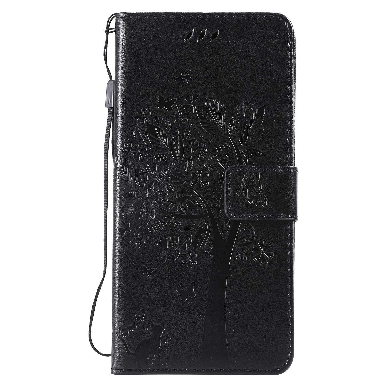 LOKTU23837 Gr/ün Schutzh/ülle Brieftasche mit Kartenfach Klappbar Magnetverschluss Sto/ßfest Kratzfest Handyh/ülle Case f/ür LG V40 ThinQ Lomogo LG V40 H/ülle Leder