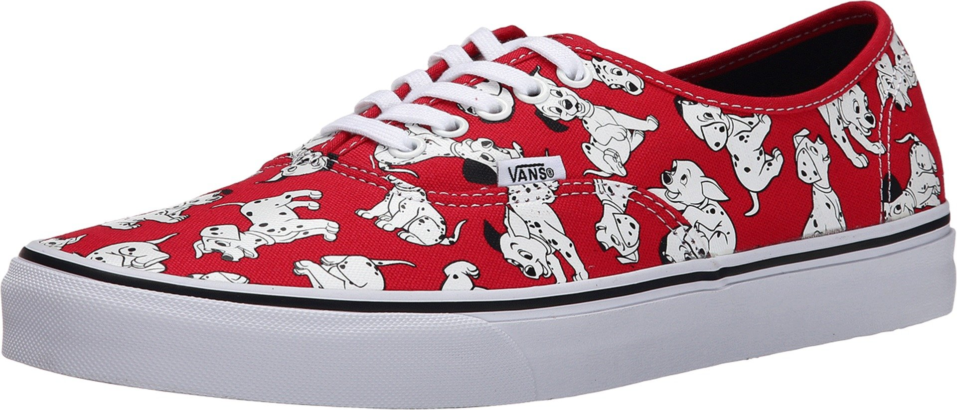 Vans Authentic Shoes (Disney) Dalmatians Unisex Red Sneakers (4.5 Men)